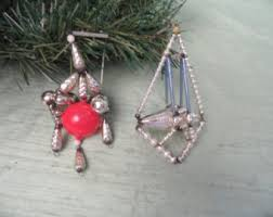glass bead ornament etsy
