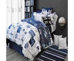 passport blue by alamode comforter set canadian bedding store more views