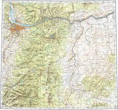 Map Of Portland Download Topographic Map In Area Of Portland Beaverton Gresham