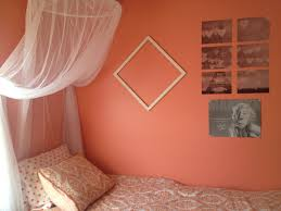 Curtain Color For Orange Walls Inspiration My Room 3 Sherwin Williams Ravishing Coral Paint And