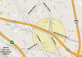 Map Of Sap Center San Jose by Us 101 Zanker Road Interchange