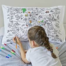 design your own pillowcase doodle world map pillowcase color your own pillow