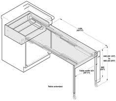 Great Space Saving Idea The Builtin Kitchen Table Shown Left - Kitchen pull out table