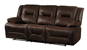 faux leather reclining sofa homelegance okello modern double reclining sofa airehyde breathable