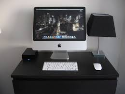 Mac Computer Desk Furniture Astounding Imac Computer Desk With Black Table Lamp And