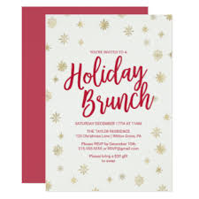 christmas brunch invitations modern christmas luncheon gifts on zazzle