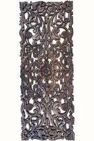 asian home decor floral wood carved wall panel wall asiana