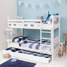 Bunk Bed With Pull Out Bed Refundable Pull Out Bunk Bed Trundle For Single In White Noa Nani