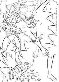 dot dot batman coloring pages hellokids