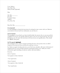How To Prepare Resume For Job Interview by Post Interview Thank You Letter Best Thank You Letter After