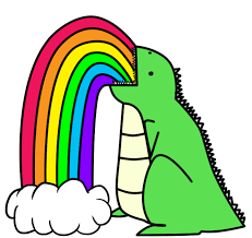 Puking Rainbow Meme - dinosaur puking rainbows by i unno on deviantart