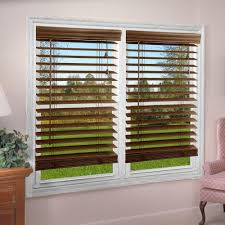 perfect lift window treatment dark oak 2 in textured faux wood