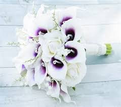 picasso calla purple heart picasso callas roses and hydrangeas bouquet rich