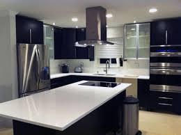 gray blue kitchen grey kitchen cabinets ikea sleek black wooden counter simple