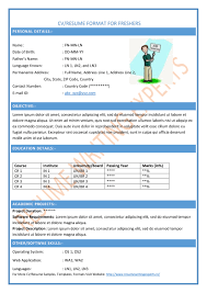 Cv Resume Format Sample by Curriculum Vitae Template Cv Template Cv Formats