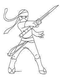 awesome ninja coloring pages for kids mcoloring pinterest