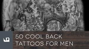 50 cool back tattoos for men youtube