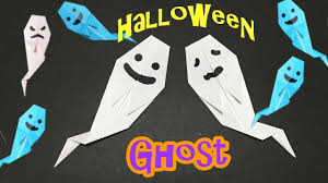 origami halloween ghost easy tutorial for kids quick and simple