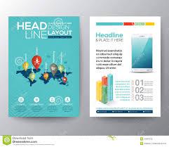 social media brochure template social network concept brochure flyer design layout template stock