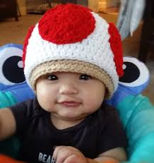 Toad Halloween Costume Super Mario Bros Toad Toadette Mushroom Crochet Beanie Newborn