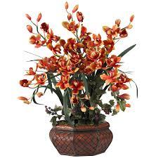 Faux Flower Arrangements Large Cymbidium Orchid Silk Flower Arrangement 1199