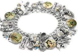 charm bracelet designs images Mermaid charm bracelet ocean bracelet mermaid jewelry vintage JPG