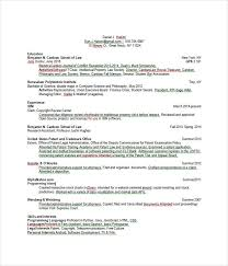 Sample Resume For Assistant Professor In Computer Science by Resume Templates 27 Word Pdf Documents Download