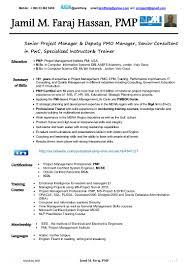Oracle Resume Sample by Jamil Faraj Hassan Pmp Cv