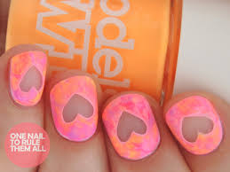 one nail to rule them all paint all the nails presents neon