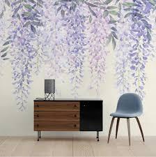purple wisteria wallpaper purple vines art watercolor lavender