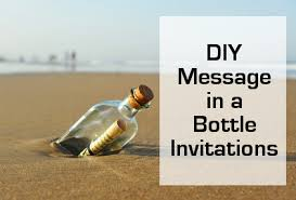 Diy Message In A Bottle Diy Handmade Beach Wedding Invitations