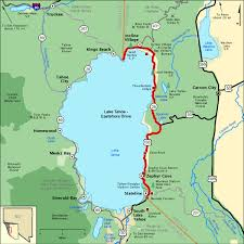 americas byways lake tahoe eastshore drive map america s byways travel