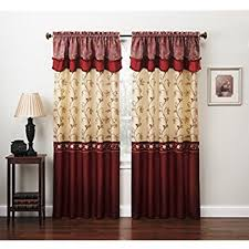 Embroidered Curtain Panels Amazon Com Fancy Collection Embroidery Curtain Set 2 Panel Drapes