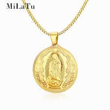 religious necklace milatu pendant necklace men women gold color