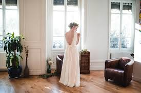 robe mari e lyon anais robe de mariée dos nu en dentelle demi mesure en mousseline