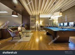 Luxury Livingrooms by Interior Luxury Living Room Pool Table Stock Photo 244198762