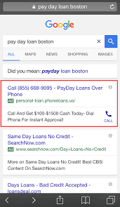 why are payday loan ads still showing on google after the ban