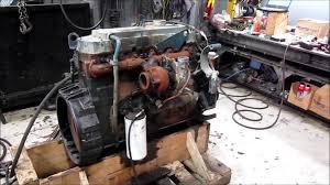 1999 international dt466e diesel engine running 250hp youtube