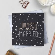 Just Married Cards Just Married U0027 Card By Fay U0027s Studio Notonthehighstreet Com