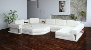 Sectional White Leather Sofa Stylish And Dramatic White Leather Sofa The Home Redesign