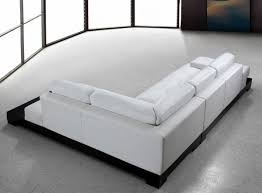 White Leather Sectional Sofa Casa Modern White Leather Sectional Sofa