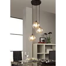 Colored Chandelier Light Bulbs Uptown 3 Light Amber Globe Cluster Pendant Bean Sprout