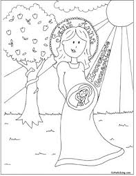 immaculate conception coloring sheet
