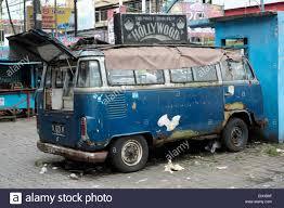 volkswagen indonesia old broken down and dilapidated volkswagen camper van being used