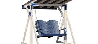 covered loveseat swings free standing porch swing