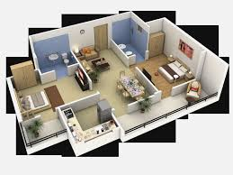 Three Bedroom Apartments 3 Bedroom Flat Interior Design 3d Plans House Design And Plans