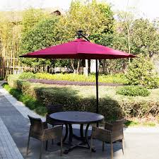 9 u0027 outdoor patio umbrella led lighted solar powered umbrella
