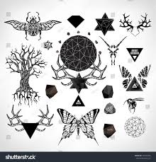 abstract gothic sacral illustration polygon crystal stock vector abstract gothic sacral illustration with polygon crystal design element symbol sign for tattoo