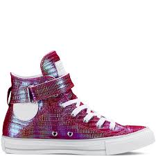 Brea Flag Football Chuck Taylor All Star Iridescent Brea Pink Sapphire White Mouse