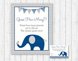 baby shower guessing elephant guess how many peanuts elephant baby shower